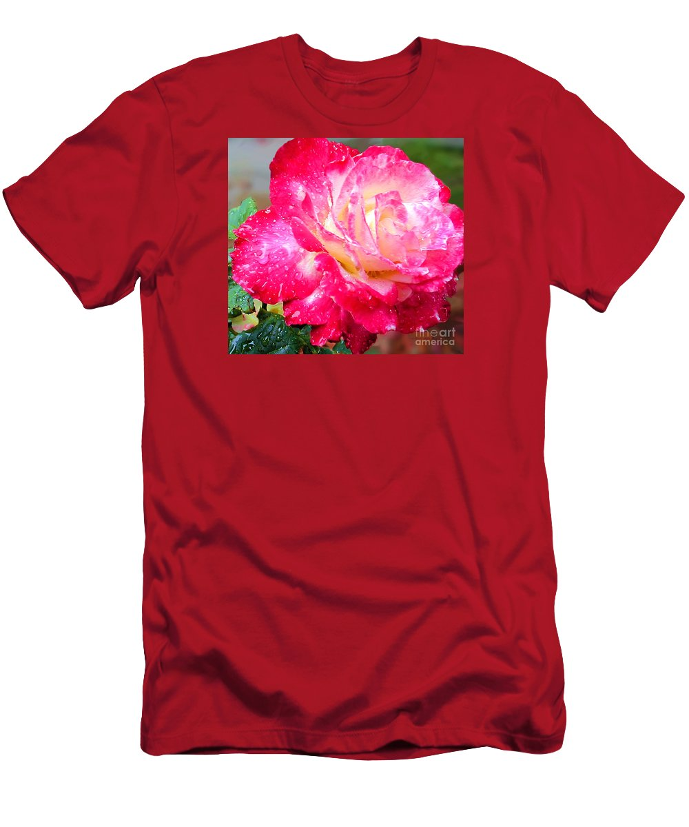 Fine Art Photography Men's T-Shirt (Athletic Fit) featuring the photograph Double Delight by Patricia Griffin Brett