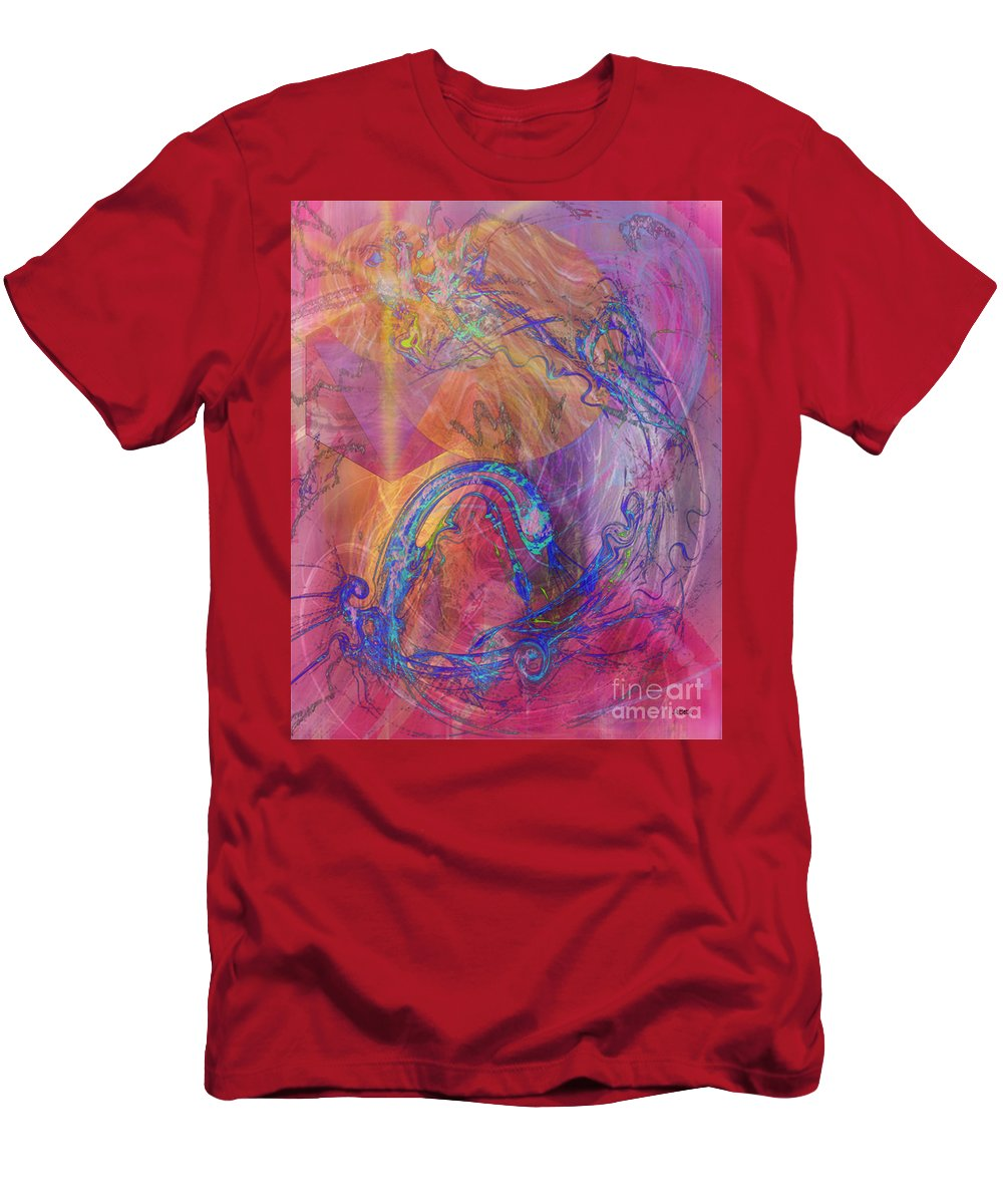 Dragon's Tale Men's T-Shirt (Athletic Fit) featuring the digital art Dragon's Tale by John Beck