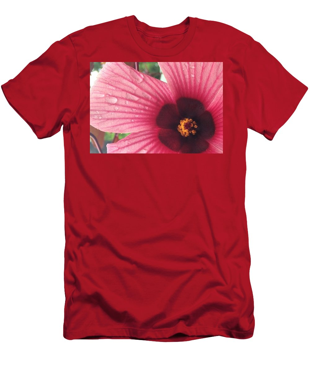 Flowers Men's T-Shirt (Athletic Fit) featuring the photograph Drinking The Rain by Natalia Wallwork