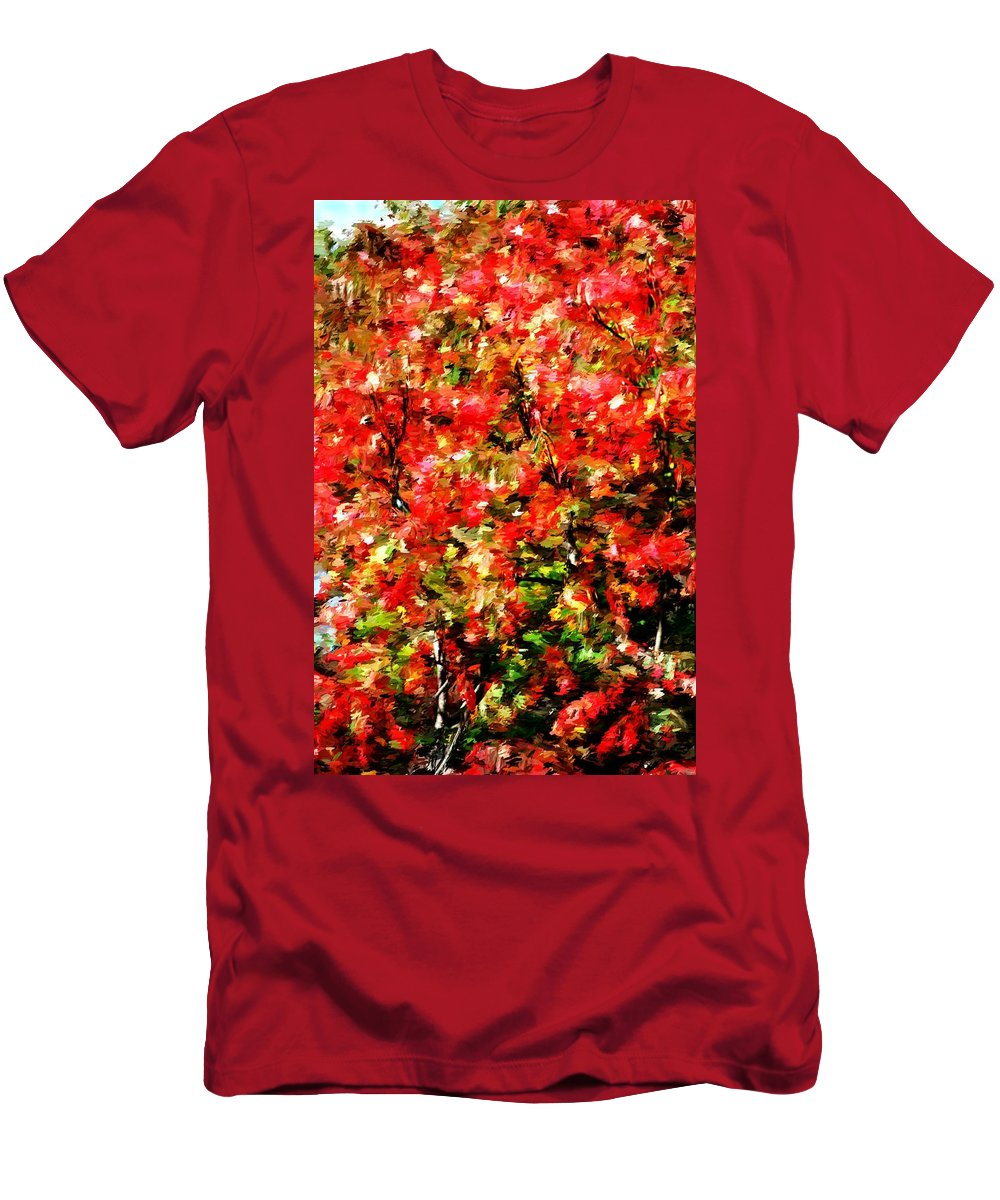 Abstract Digital Photo Men's T-Shirt (Athletic Fit) featuring the photograph Early Color Painting by David Lane