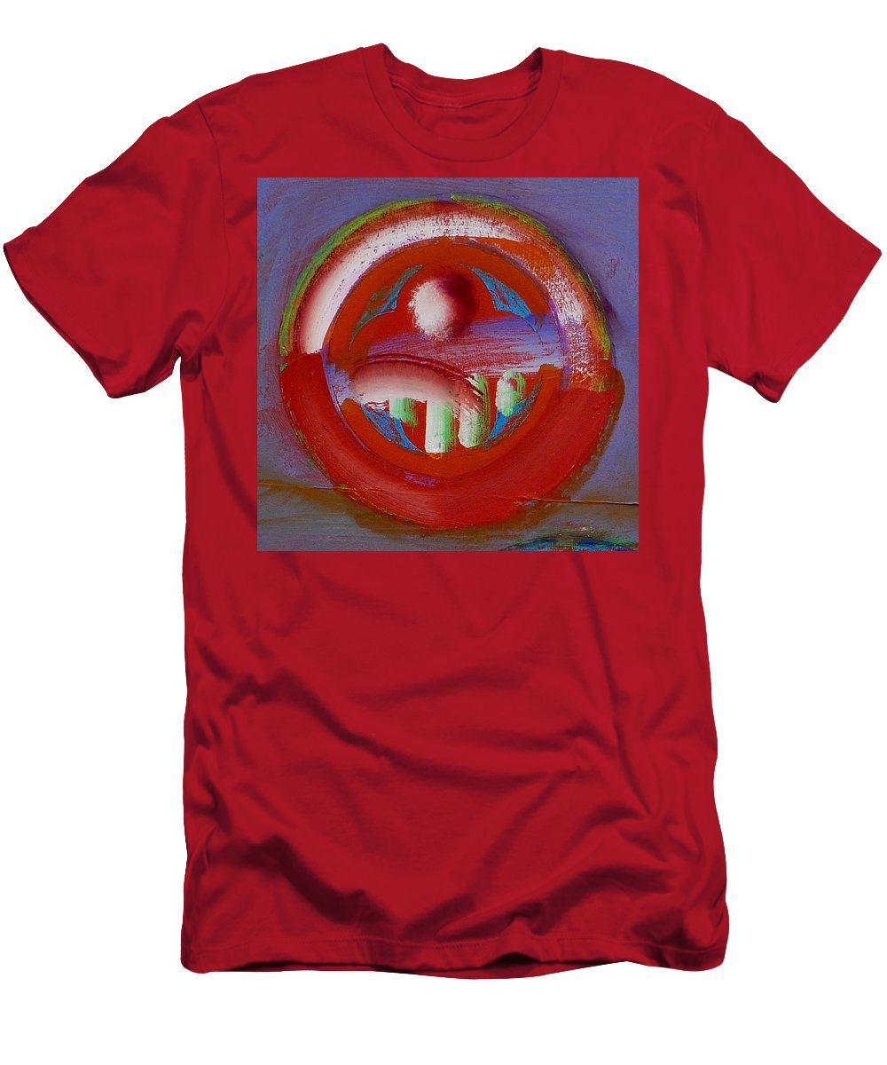 Love Men's T-Shirt (Athletic Fit) featuring the painting Earth Button by Charles Stuart