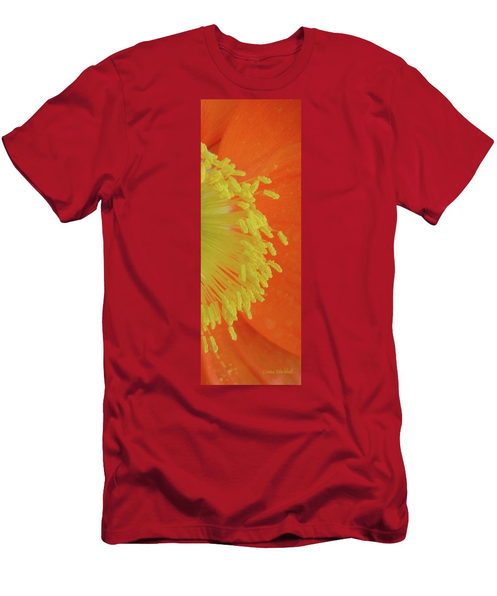 Poppy Men's T-Shirt (Athletic Fit) featuring the photograph Edge Of The Sun by Donna Blackhall