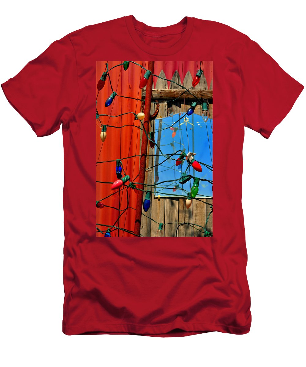 Skip Hunt Men's T-Shirt (Athletic Fit) featuring the photograph Electric Lady Land by Skip Hunt