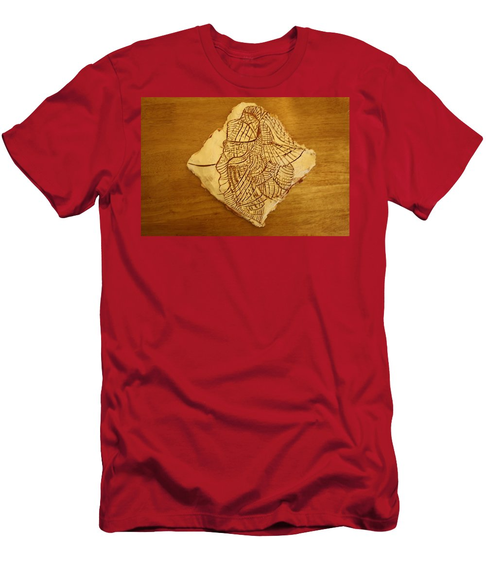 Jesus Men's T-Shirt (Athletic Fit) featuring the ceramic art Elements - Tile by Gloria Ssali