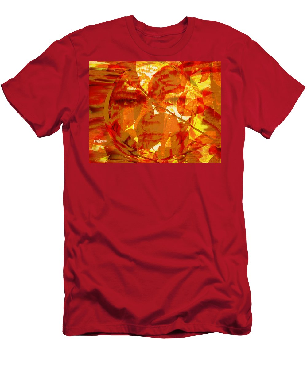 Oriental Men's T-Shirt (Athletic Fit) featuring the digital art Empress Of The Sun by Seth Weaver