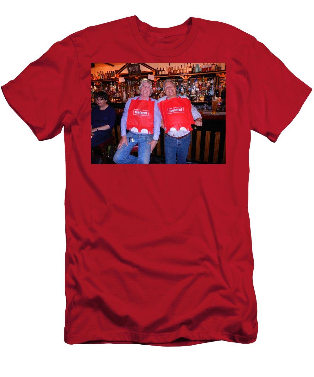 Nik Watt Men's T-Shirt (Athletic Fit) featuring the photograph England's Departure by Nik Watt