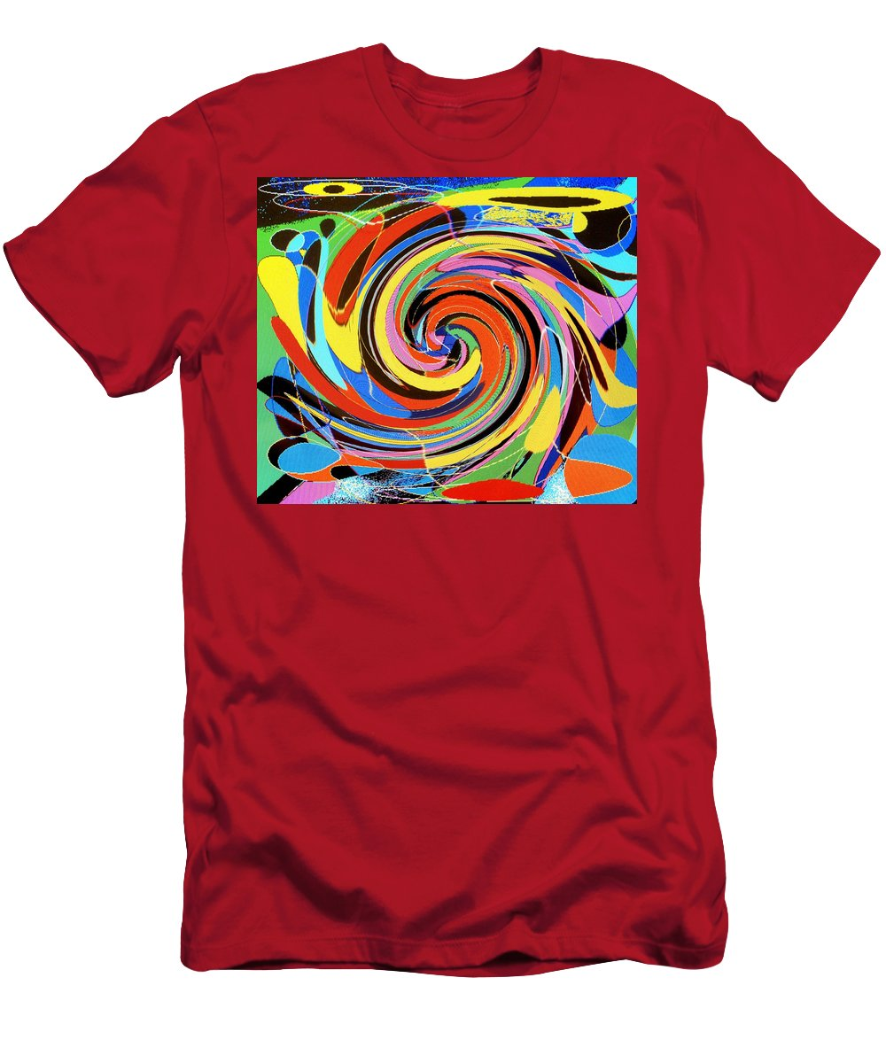 Men's T-Shirt (Athletic Fit) featuring the digital art Escaping The Vortex by Ian MacDonald