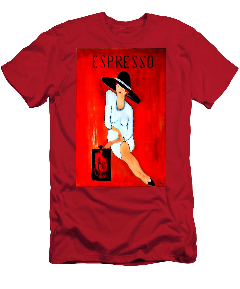 Italian Men's T-Shirt (Athletic Fit) featuring the digital art Espresso by Helmut Rottler