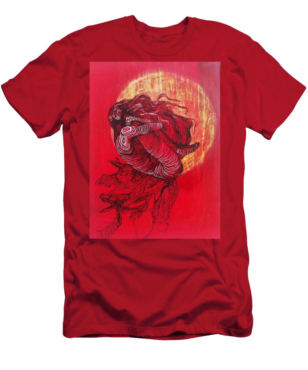 Men's T-Shirt (Athletic Fit) featuring the mixed media Evolution by Gergana Bojikova