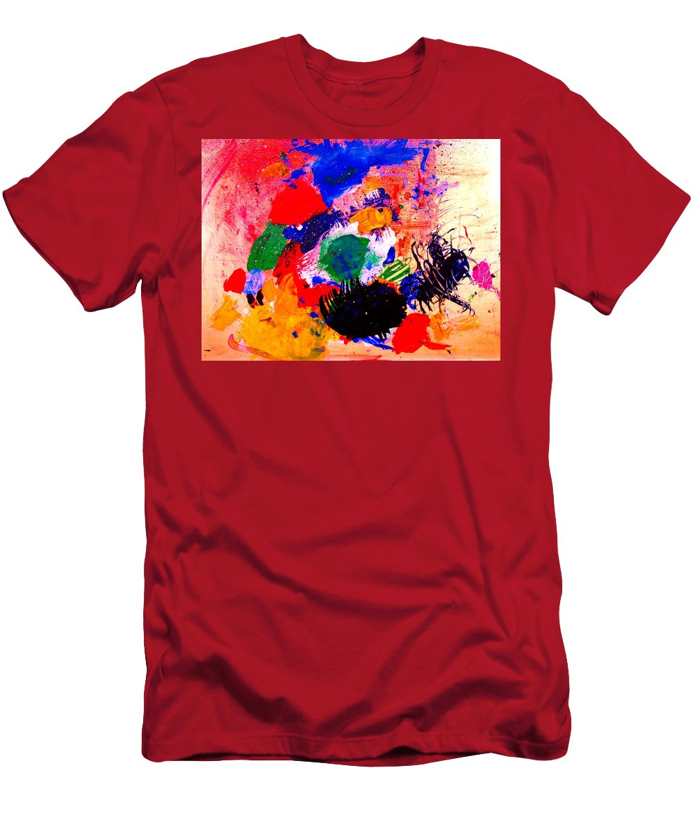 Abstract Men's T-Shirt (Athletic Fit) featuring the painting Evolving Evolution by Natalie Holland
