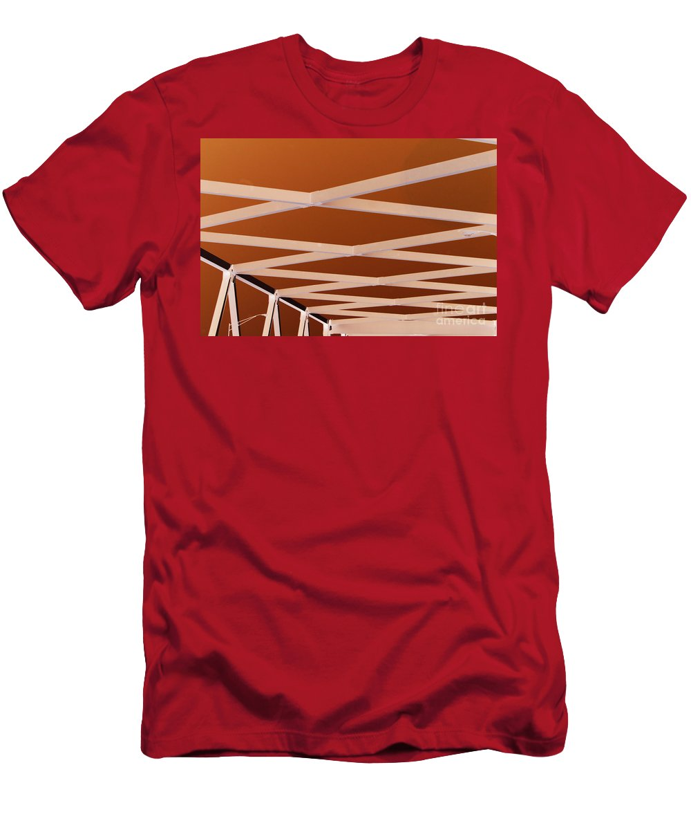 Bridge Men's T-Shirt (Athletic Fit) featuring the photograph Exes- Red by Jamie Lynn