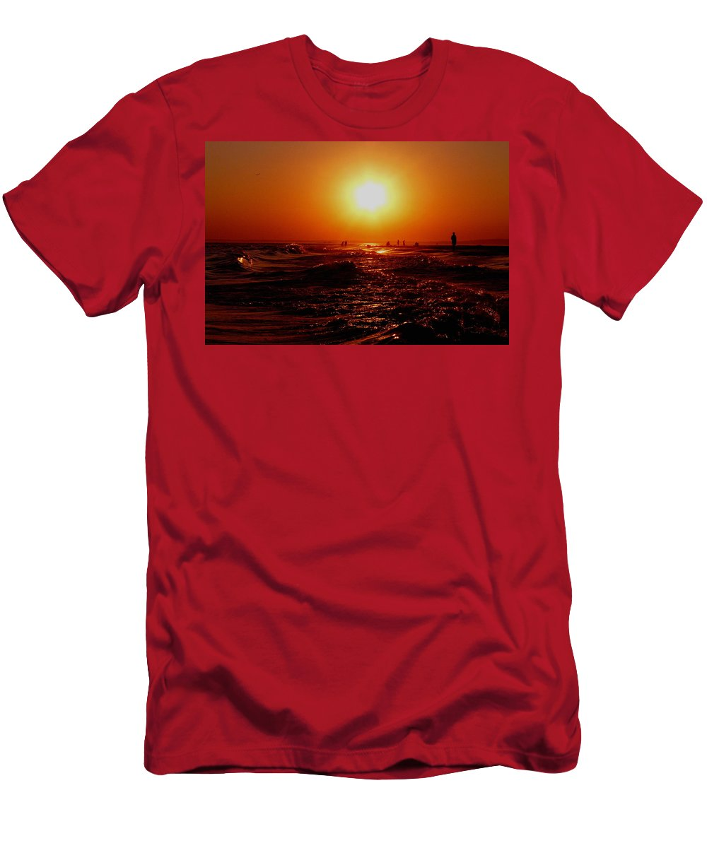 Beach Men's T-Shirt (Athletic Fit) featuring the photograph Extreme Blazing Sun by Kendall Eutemey