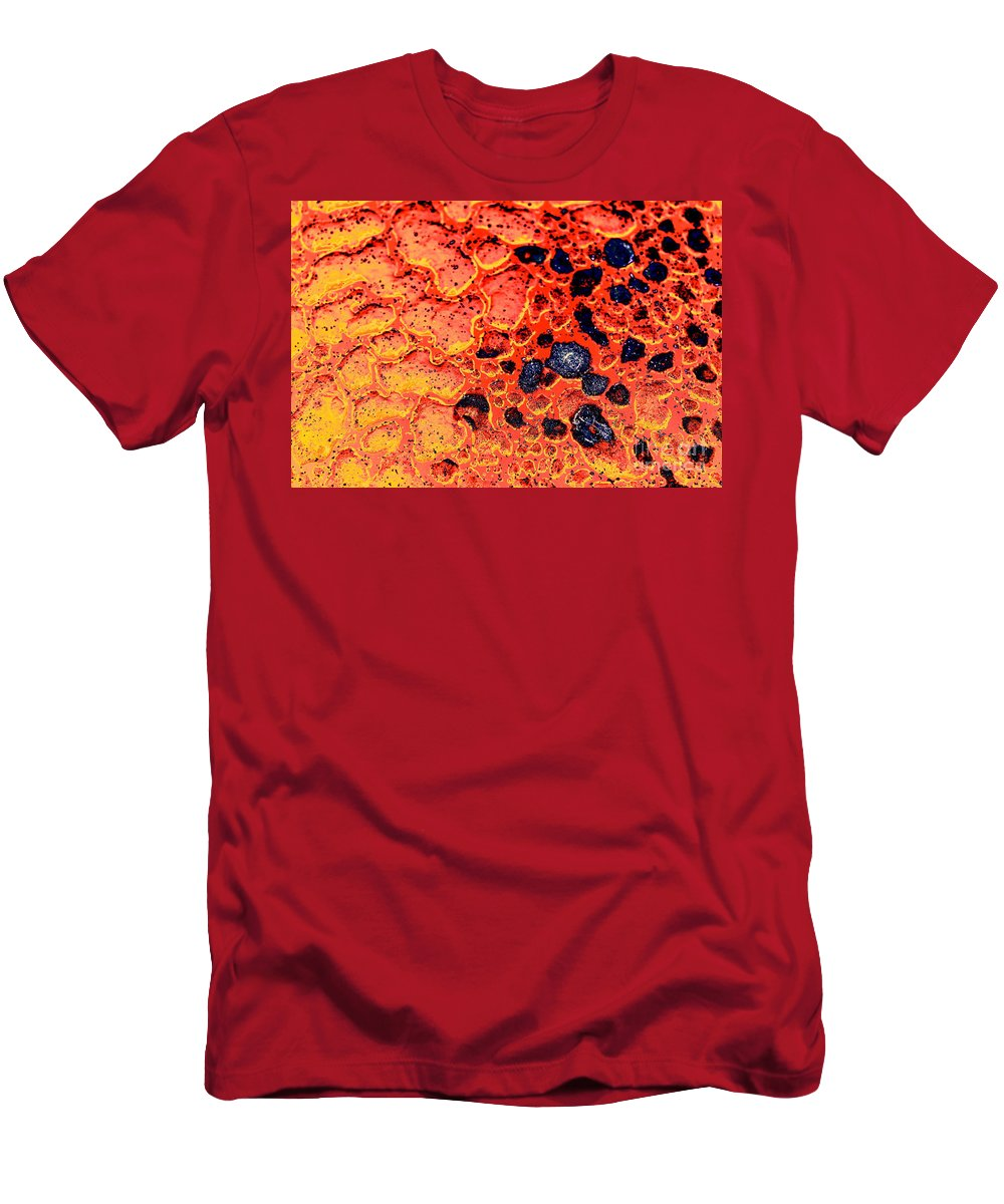 Lava Men's T-Shirt (Athletic Fit) featuring the photograph Extrinsic by Brook Steed