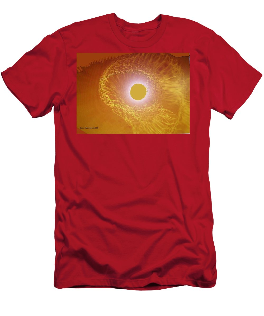 The Powerful Gaze Of The Almighty. Destroying Evil With His Almighty Sight. T-Shirt featuring the digital art Eye Of God by Seth Weaver