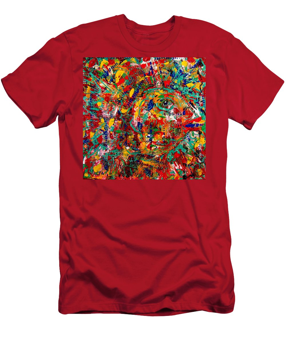 Abstract Men's T-Shirt (Athletic Fit) featuring the painting Eye Of The Beholder by Natalie Holland