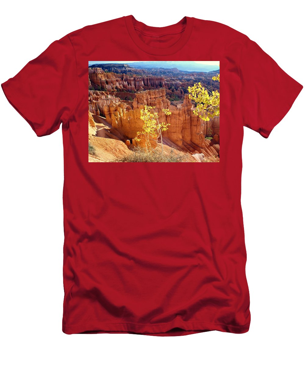 Bryce Canyon National Park Men's T-Shirt (Athletic Fit) featuring the photograph Fall In Bryce Canyon by Marty Koch