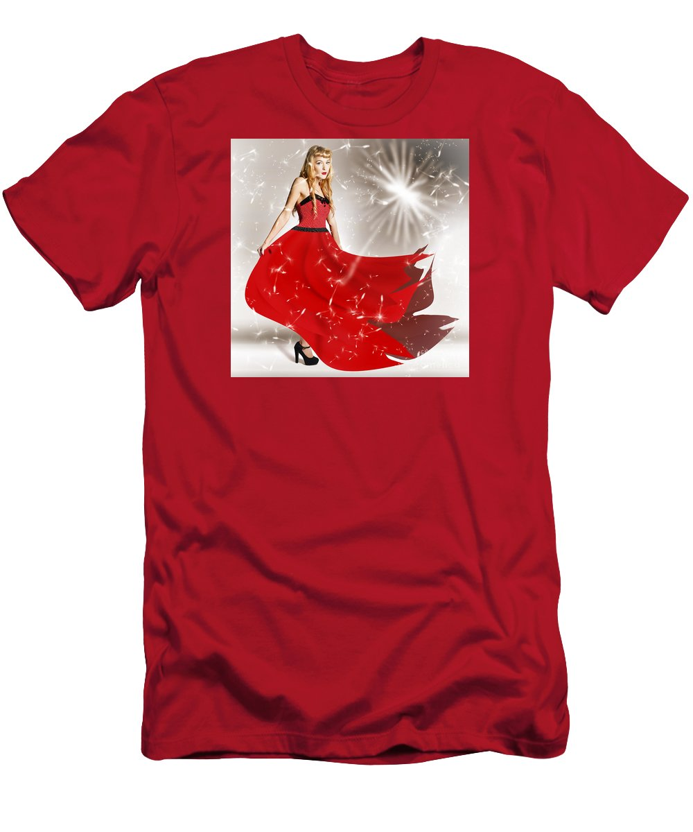 Flower Men's T-Shirt (Athletic Fit) featuring the digital art Fashion Love In The Spread Of Designs by Jorgo Photography - Wall Art Gallery