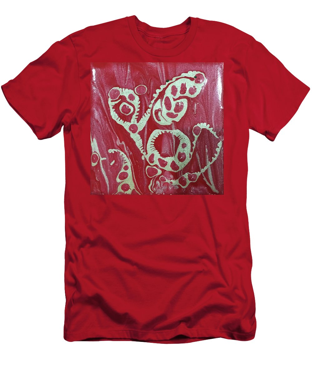 Red Men's T-Shirt (Athletic Fit) featuring the painting February 14 by Regina Jeffers