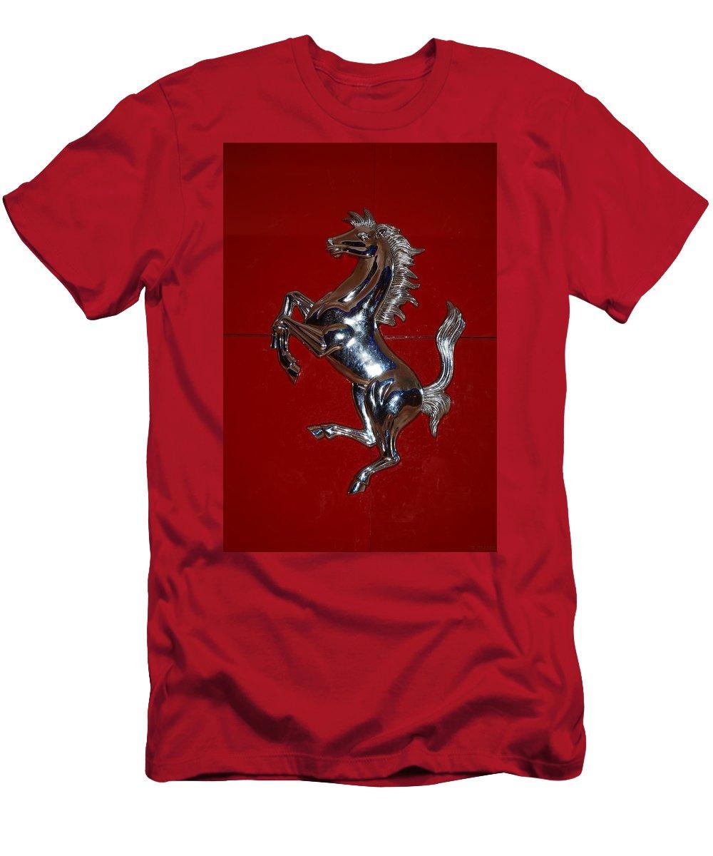 Pop Art Men's T-Shirt (Athletic Fit) featuring the photograph Ferrari Stallion by Rob Hans