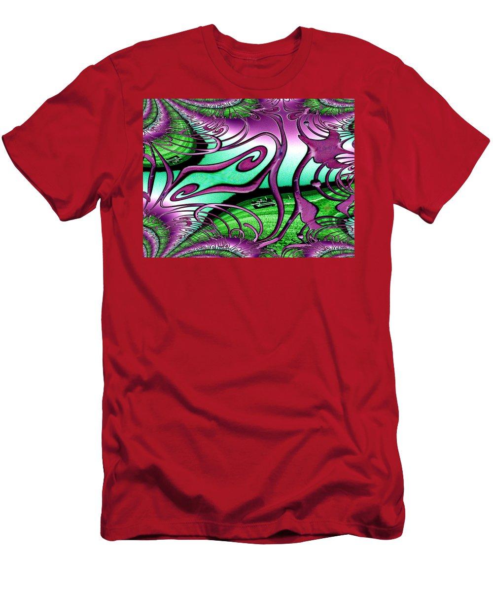 Seattle Men's T-Shirt (Athletic Fit) featuring the digital art Ferry On Elliott Bay 2 by Tim Allen