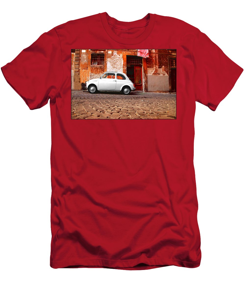 Fiat Men's T-Shirt (Athletic Fit) featuring the photograph Fiat 500 by Valentino Visentini