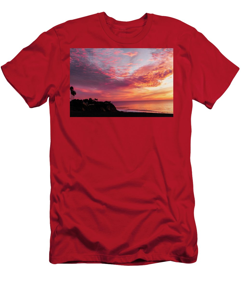 Sunset Men's T-Shirt (Athletic Fit) featuring the photograph Fire Breather by Mondo Hand