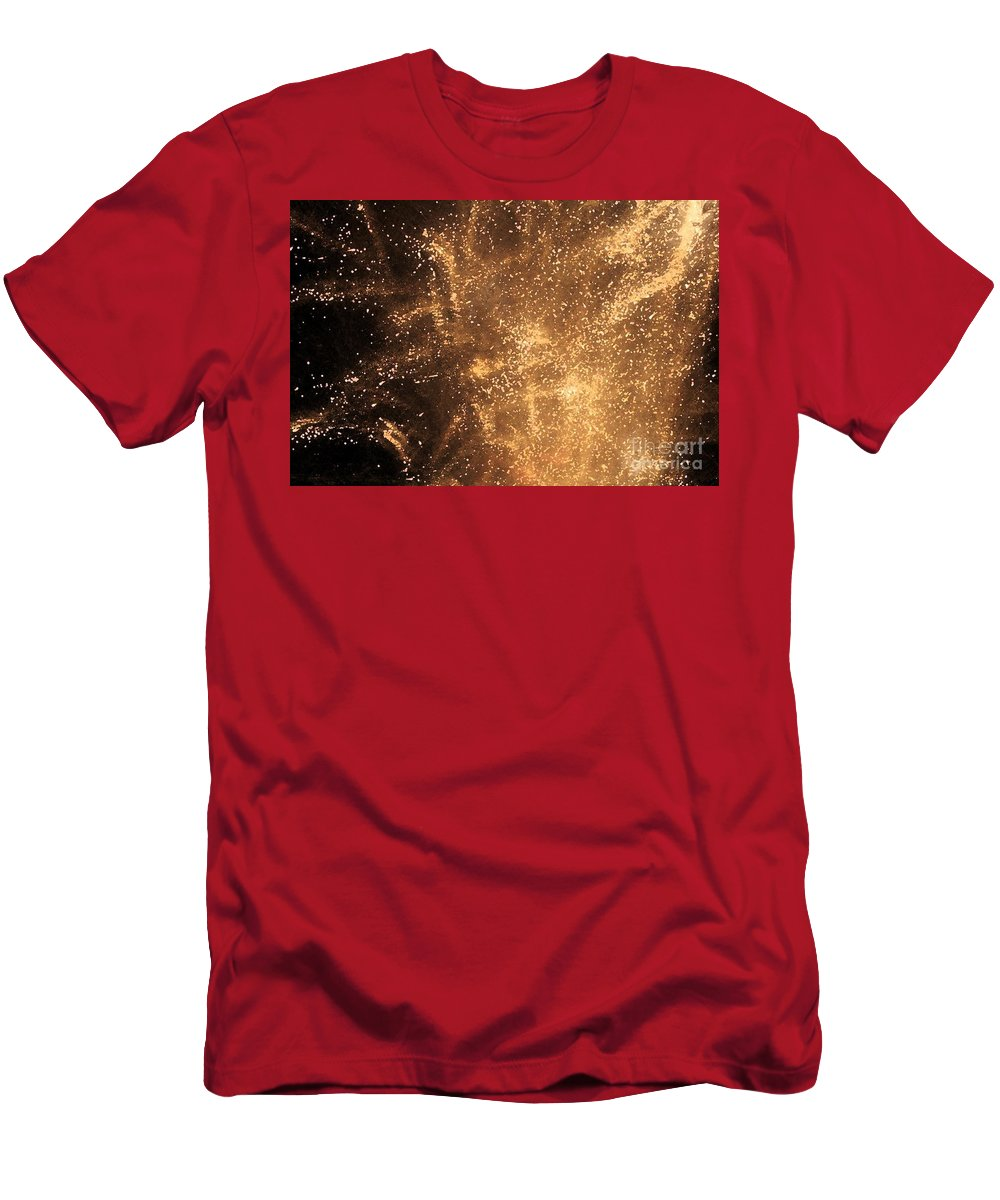 Fireworks Men's T-Shirt (Athletic Fit) featuring the photograph Fired Up by Debbi Granruth