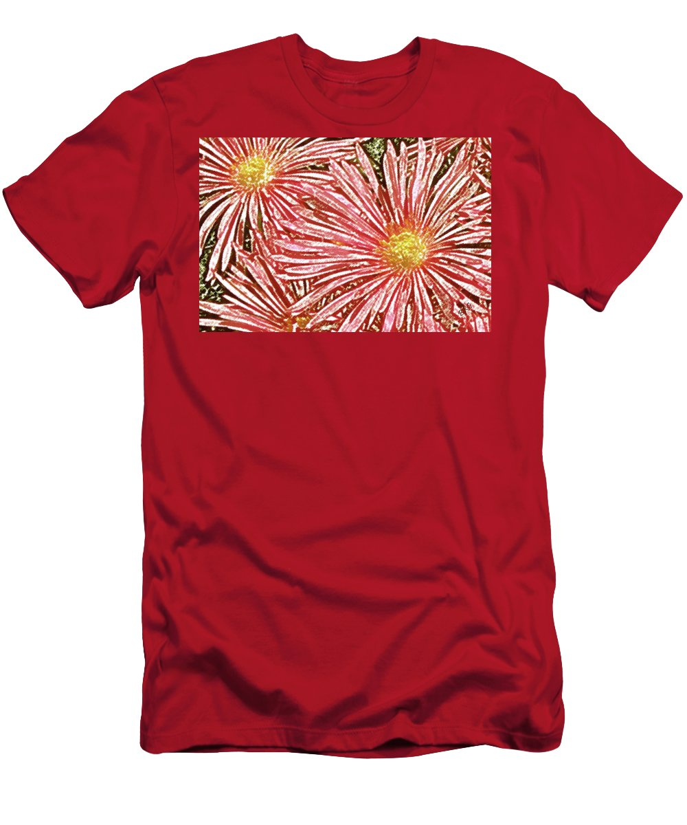 Floral Abstract Men's T-Shirt (Athletic Fit) featuring the photograph Floral Design No 1 by Ben and Raisa Gertsberg