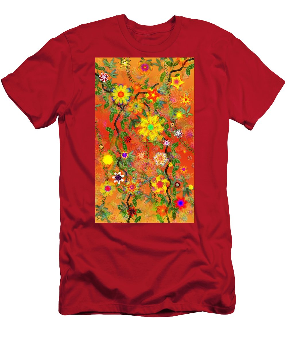 Floral Men's T-Shirt (Athletic Fit) featuring the digital art Floral Fantasy 122110 by David Lane