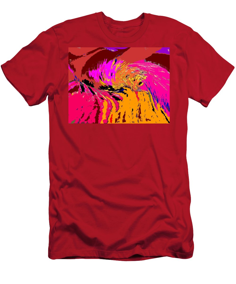 Abstract Men's T-Shirt (Athletic Fit) featuring the digital art Flow by Ian MacDonald