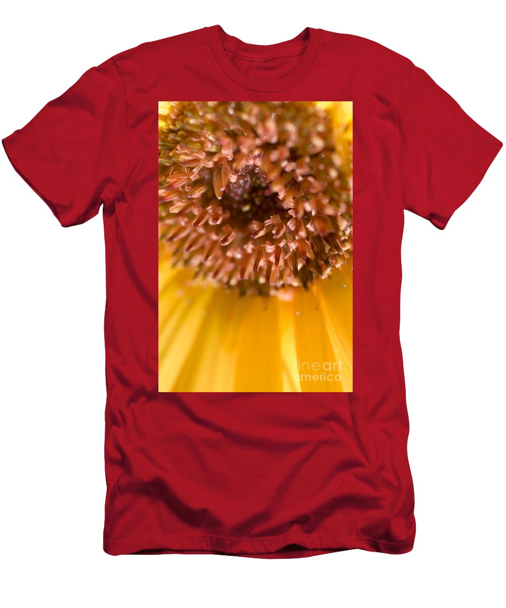 Abstract Men's T-Shirt (Athletic Fit) featuring the photograph Flower Abstract by Ray Laskowitz - Printscapes