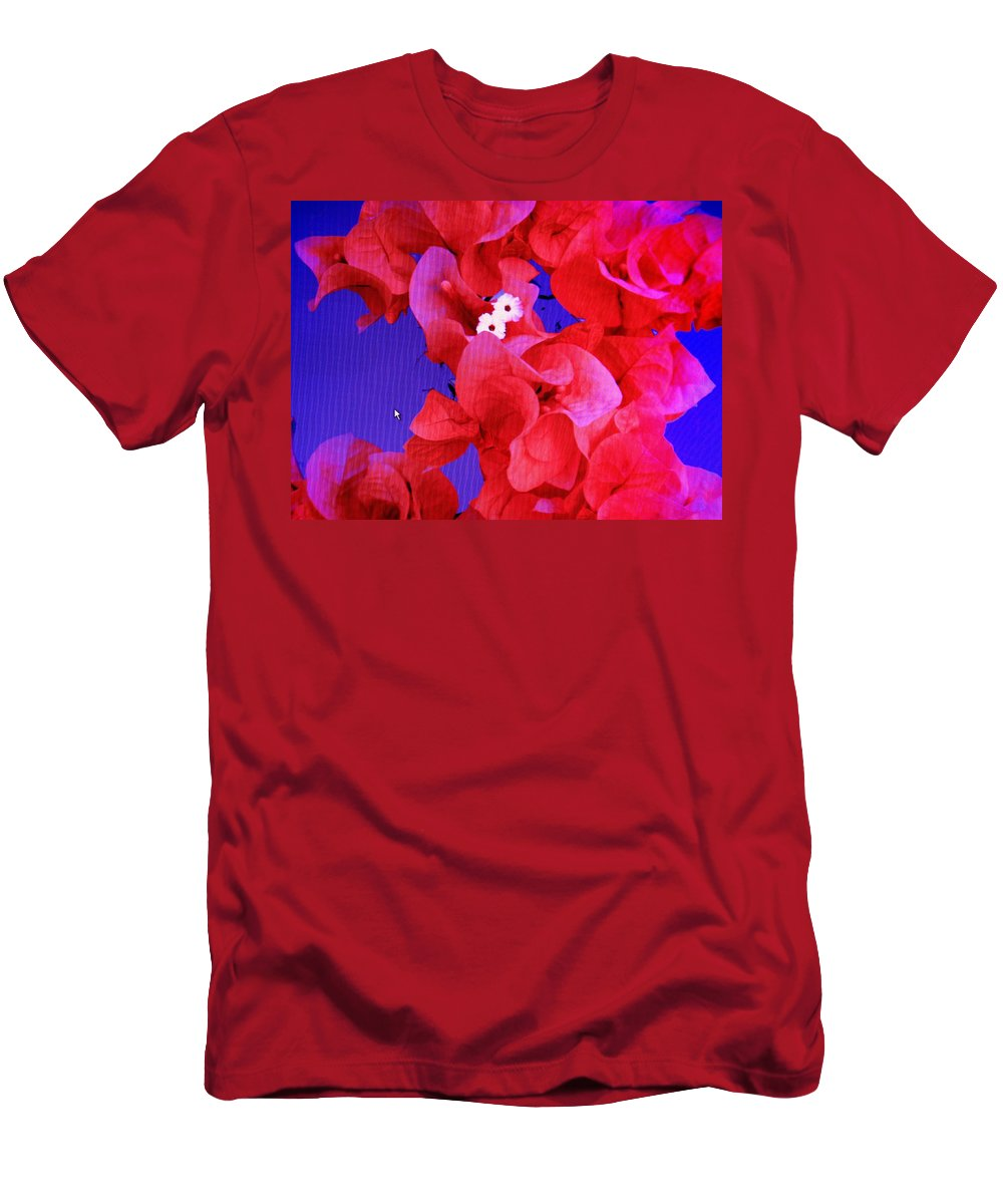 Red Men's T-Shirt (Athletic Fit) featuring the photograph Flower Fantasy by Ian MacDonald