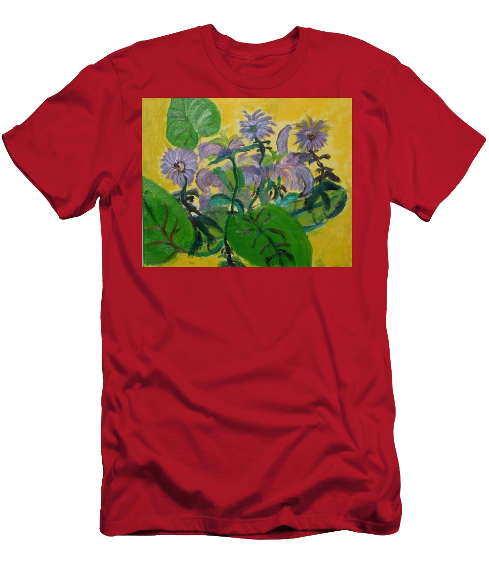 T-Shirt featuring the painting Flower garden by Jason Rosenstock