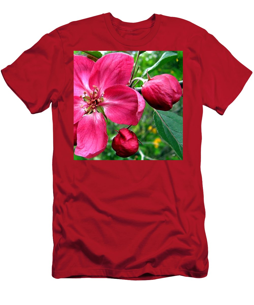 Flowering Crab Apple Men's T-Shirt (Athletic Fit) featuring the photograph Flowering Crab Apple by Will Borden