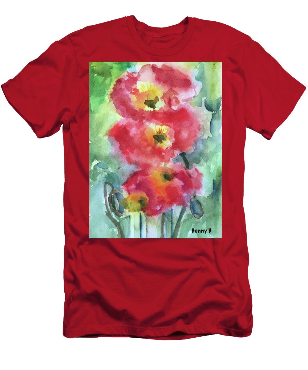 Floral Men's T-Shirt (Athletic Fit) featuring the painting Trio by Bonny Butler