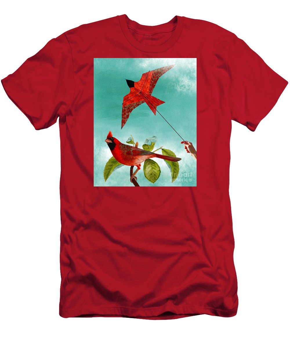 Bird Men's T-Shirt (Athletic Fit) featuring the digital art Fly Free by Sherri Leeder