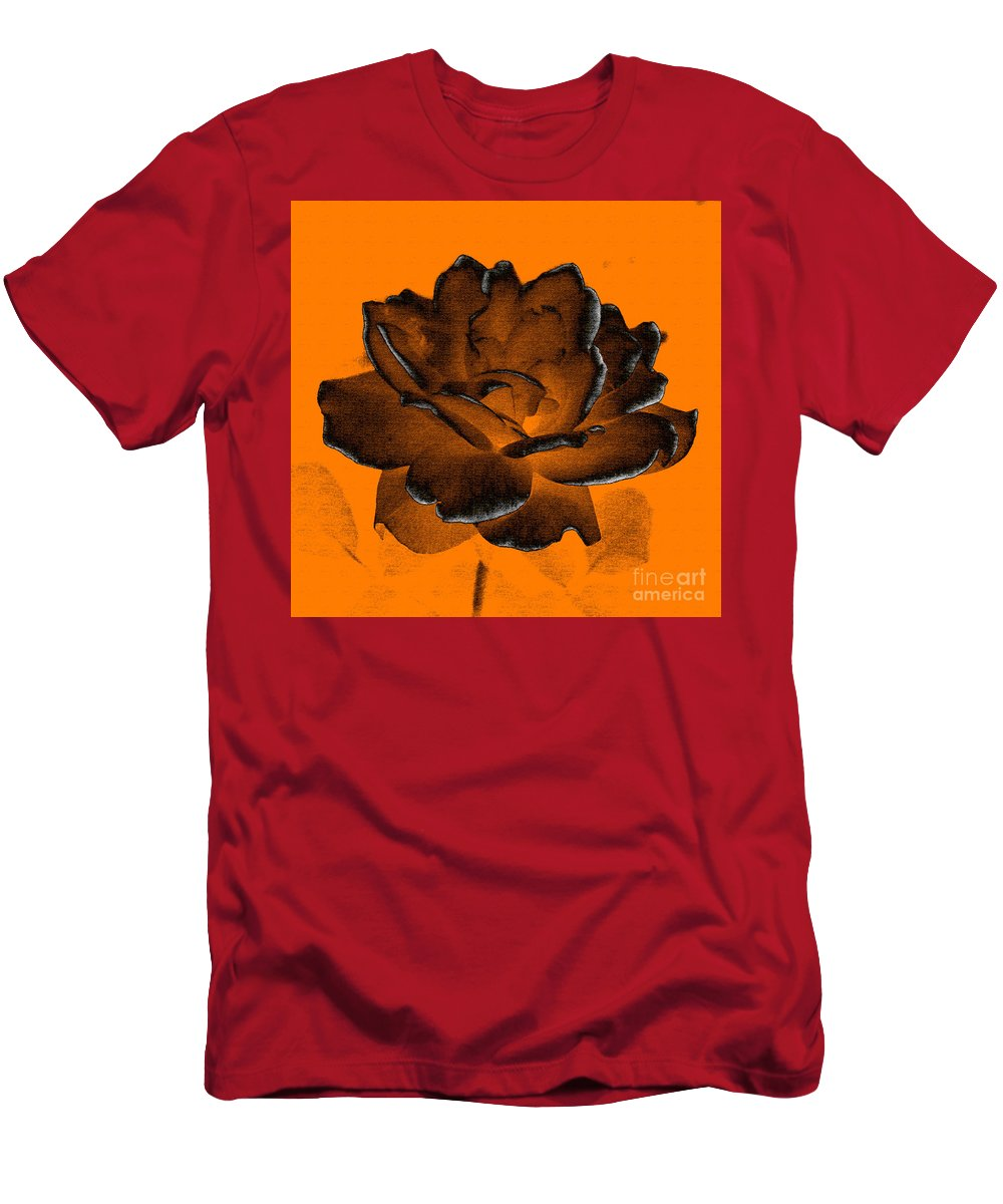 Rose Men's T-Shirt (Athletic Fit) featuring the photograph Forced Into Shape by Amanda Barcon