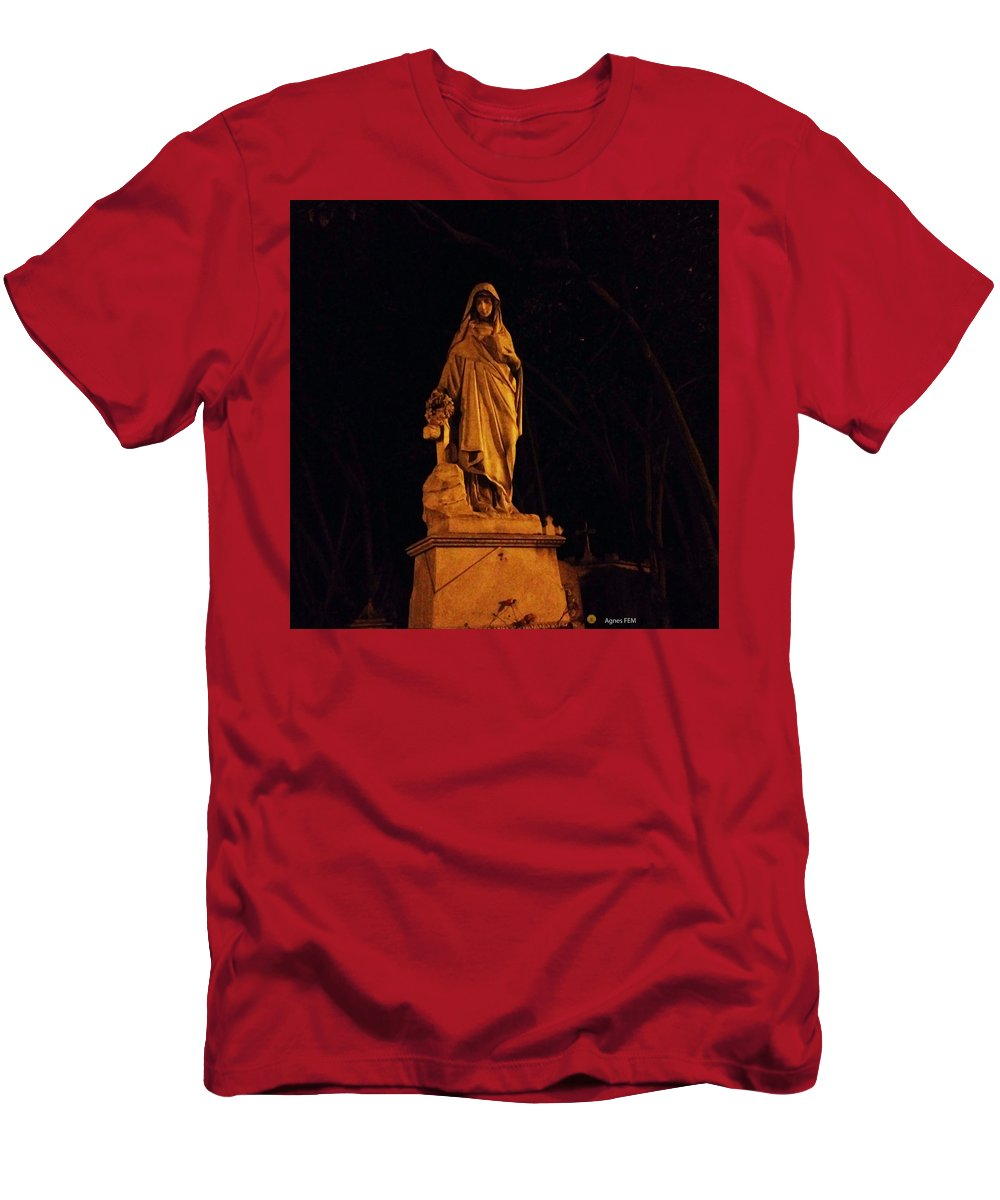Templo Men's T-Shirt (Athletic Fit) featuring the photograph Forever Still And Cold by agnes Fem