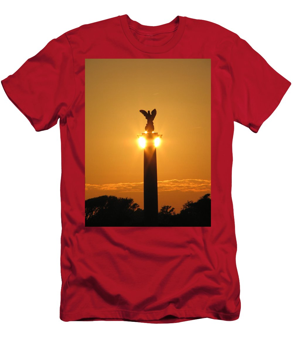 Sunset T-Shirt featuring the photograph Fort Fisher North Carolina by Creative Solutions RipdNTorn