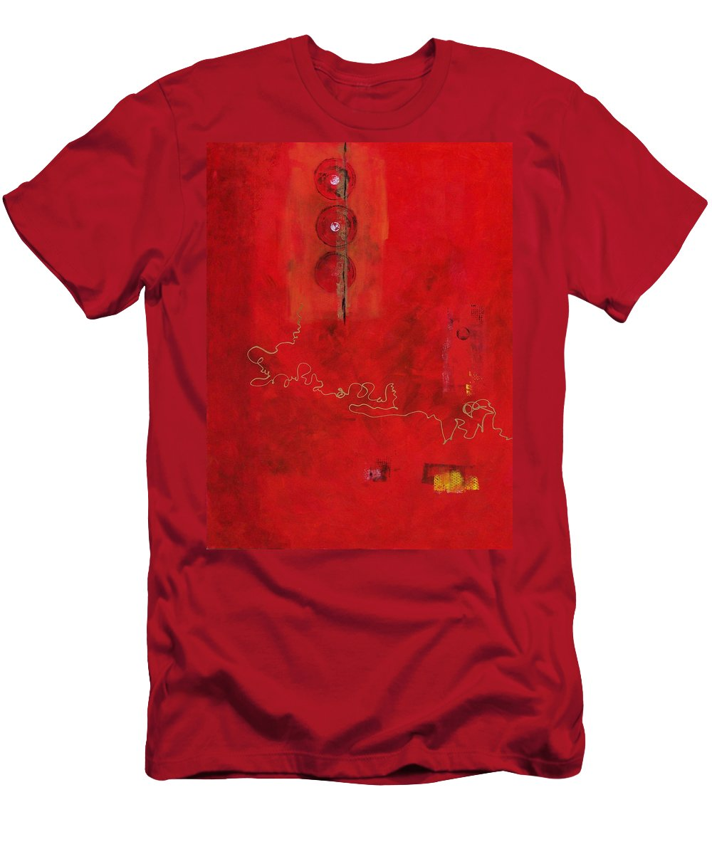 Abstract Expressionism Men's T-Shirt (Athletic Fit) featuring the painting Free Spirit 007 by Donna Frost