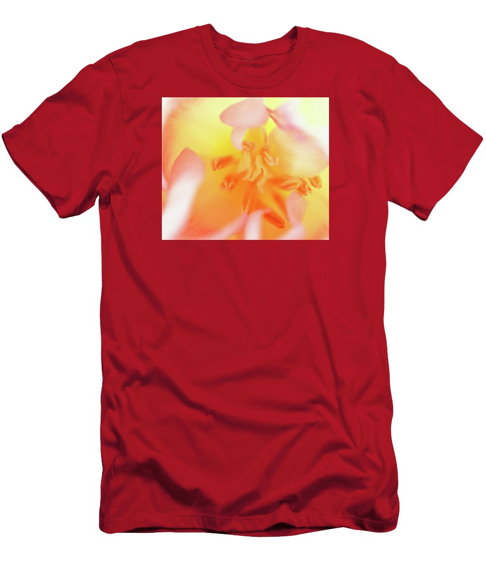 Internal Beauty Of A Tulip T-Shirt featuring the photograph From The Heart by Bill Morgenstern