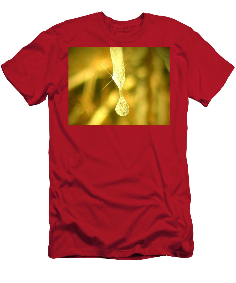 Photography Men's T-Shirt (Athletic Fit) featuring the photograph Frozen Tear by Dawn Marshall