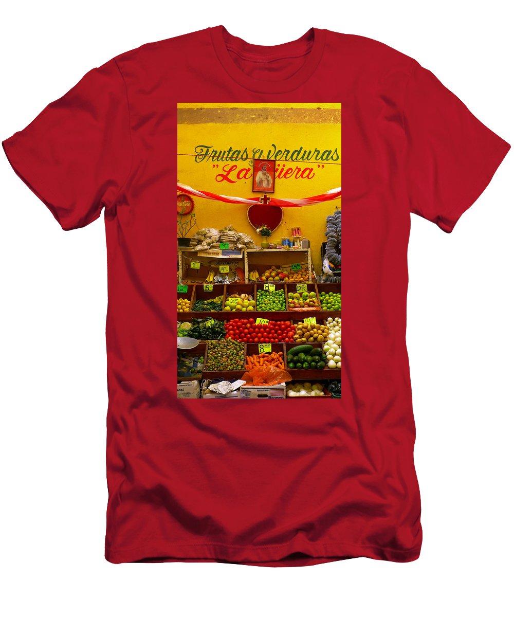 Skip Hunt Men's T-Shirt (Athletic Fit) featuring the photograph Frutas Y Verduras by Skip Hunt