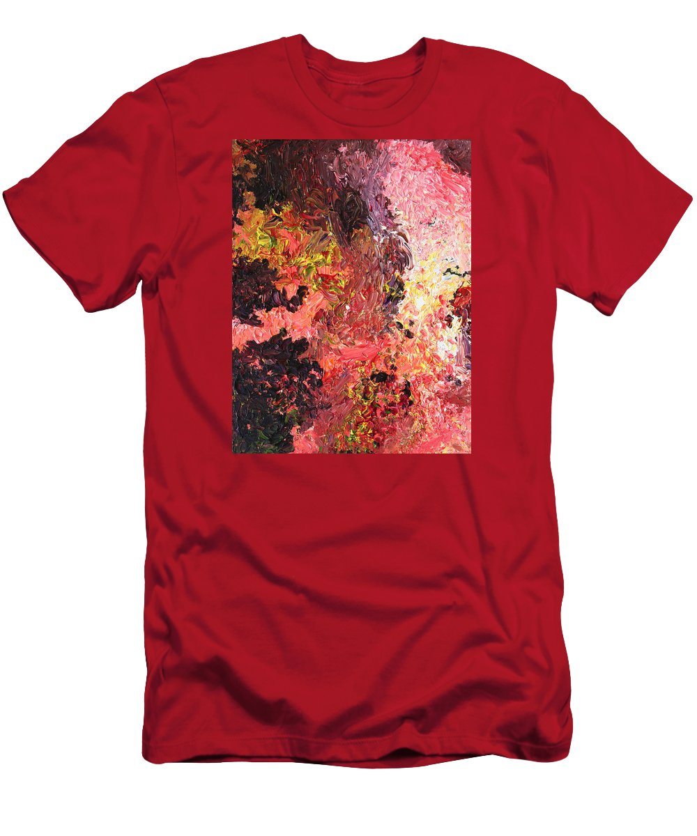 Fusionart Men's T-Shirt (Athletic Fit) featuring the painting Ganesh In The Garden by Ralph White