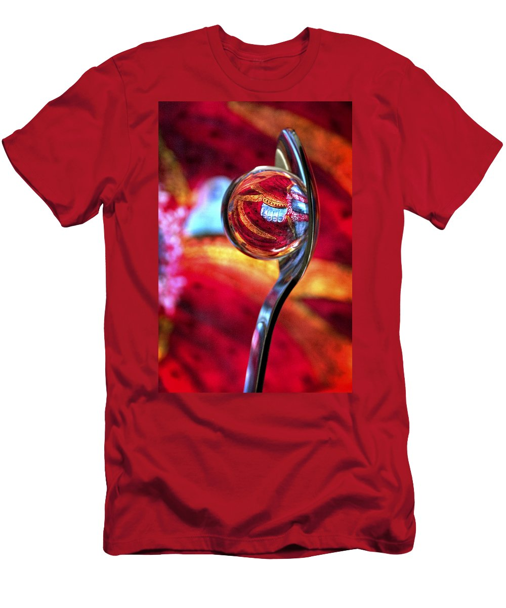 Ball Men's T-Shirt (Athletic Fit) featuring the photograph Ganesh Spoon by Skip Hunt