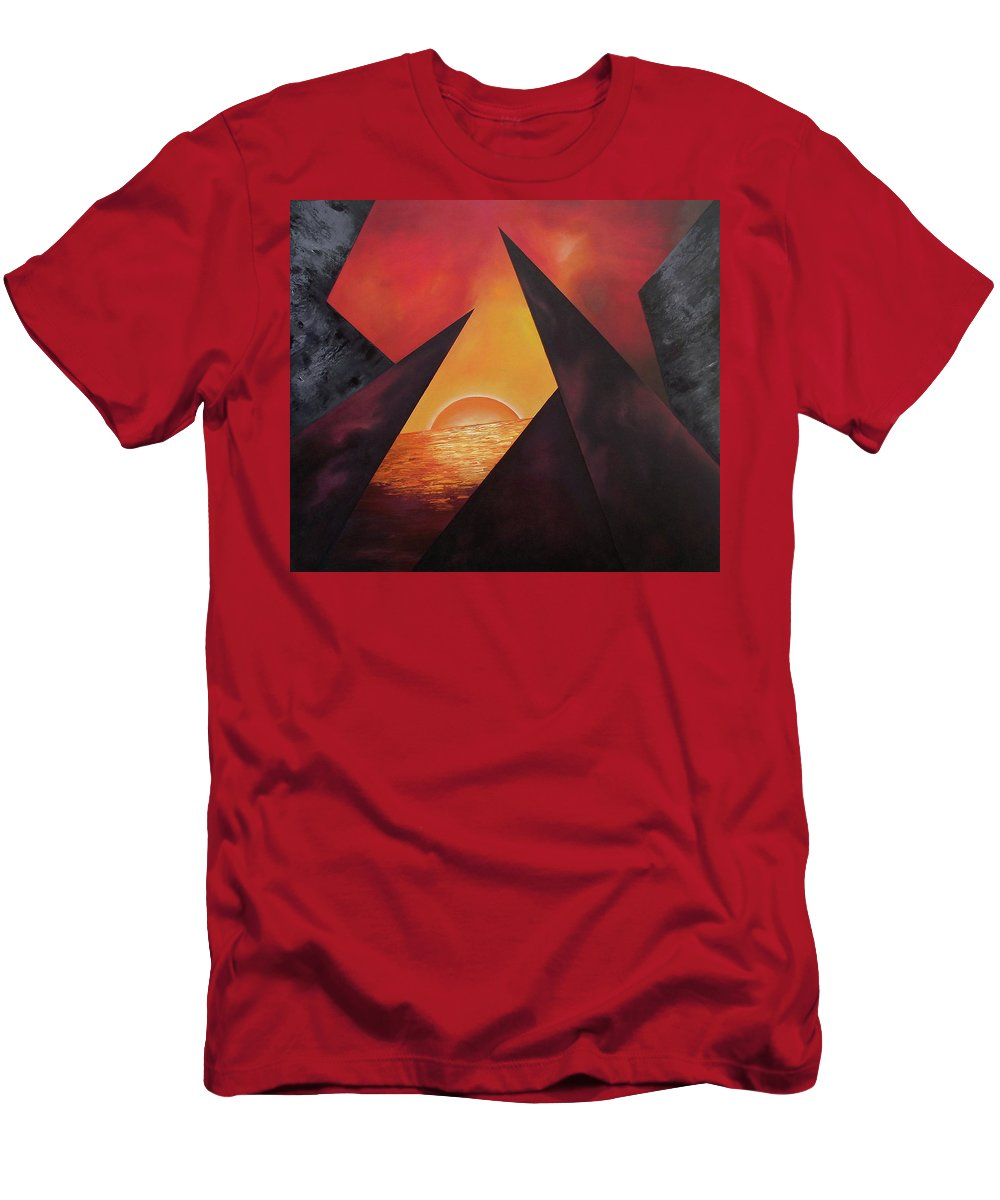T-Shirt featuring the painting Gazing Beyound by Ara Elena