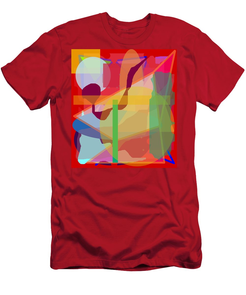 Abstract Men's T-Shirt (Athletic Fit) featuring the painting Geo Frenzy by Pharris Art