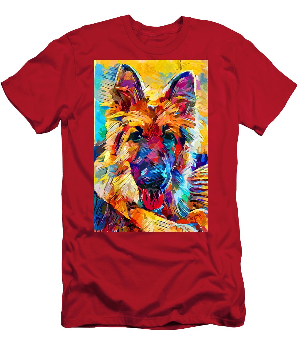 Dog T-Shirt featuring the painting German Shepherd 6 by Chris Butler