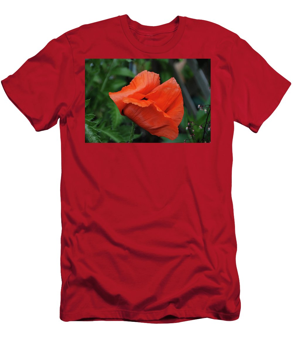 Men's T-Shirt (Athletic Fit) featuring the photograph Giant Poppy-2 by Christine Dellosso