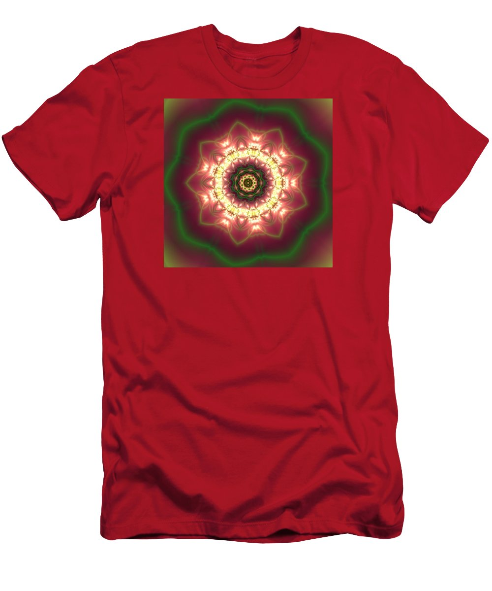 Mandala Men's T-Shirt (Athletic Fit) featuring the digital art Gold by Robert Thalmeier